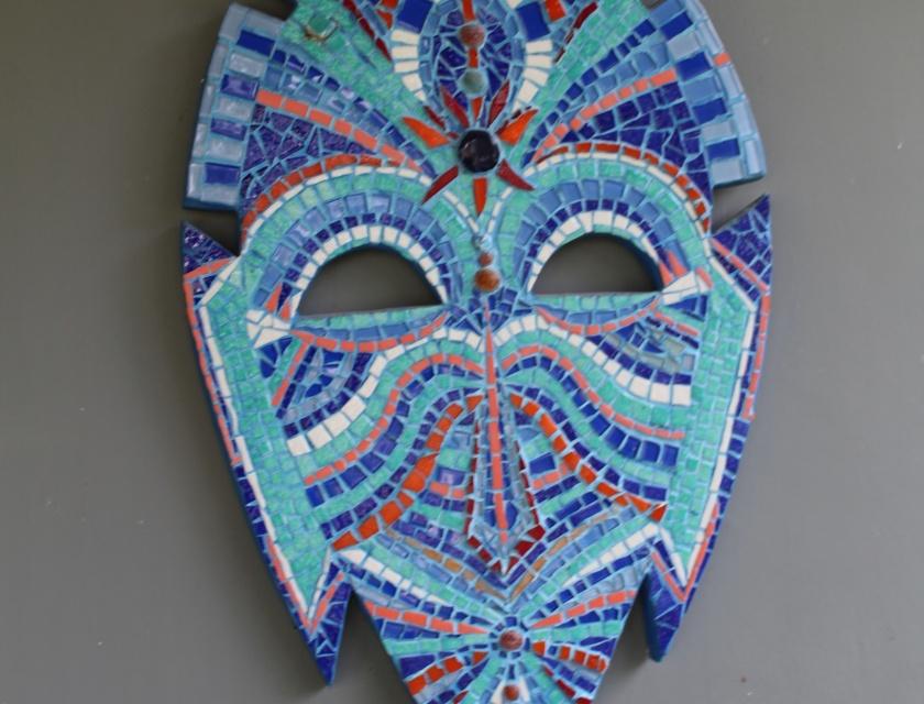 Masque Africain Coloré