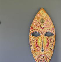 Bouclier Africain Coloré